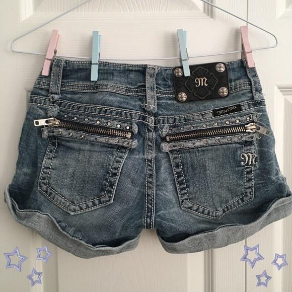Miss Me Pants - Miss me zipper shorts